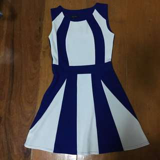 Blue White Formal / Party Dress