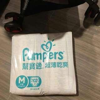 綠Pampers M Size 102pcs
