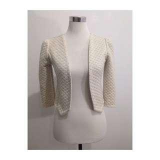 Pre Loved: Crop Off white blazer