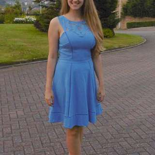 Warehouse Dress Blue