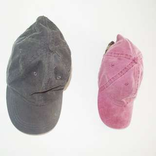 Black and pink Denim Caps