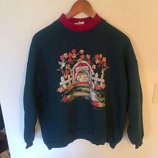 Vintage Cat & Dog Sweater