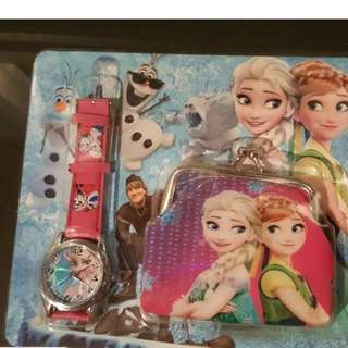 Frozen Watch and Coin Purse Set