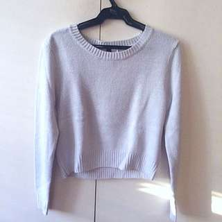 H&M Light Blue Sweater Crop Top