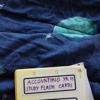 Free Year 11 Accounting Flashcards