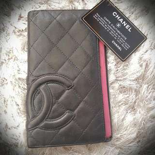 Authentic Vintage Chanel Black Lambskin Wallet Comes With Authenticity Card