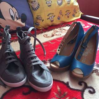 ardene and with love Imported shoes both from Canada
