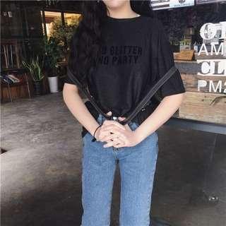 全新 子母亮晶晶寬鬆短袖T恤