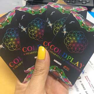 URGENT Coldplay A Head Full Of Dreams Bangkok Tour 7 April