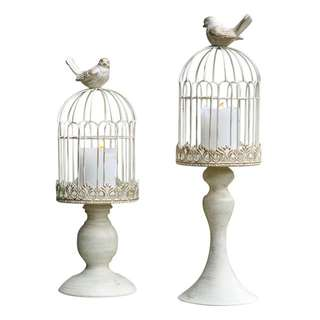 Wedding Decors Bird Cage Candle Stand For Table Decoration Wedding Props Ready Stock!