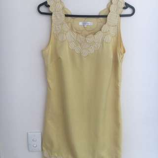 Yellow LUCY PARIS cocktail dress