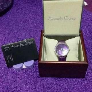 Jam tangan Alexander Christie original ungu