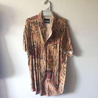 Stüssy Short Sleeve Shirt Tiger Print