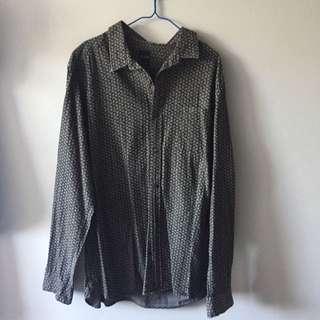Arvust Black/Grey Floral Long Sleeve Shirt