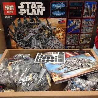 Star Wars Alternative Bricks The Millennium Falcon TFA