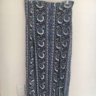 Long Split Chicabooti Skirt