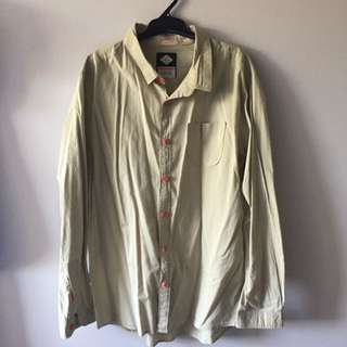 T.C.C.S Cream Green Long Sleeve Shirt