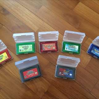 Pokémon Gameboy Advance (GBA) Games