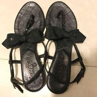 Chanel 平底涼鞋