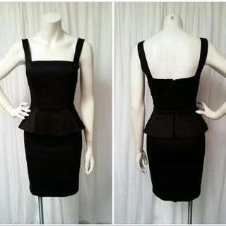 Portmans Black Peplum Dress