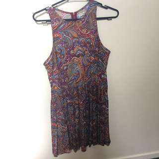 Paisley high neck dress