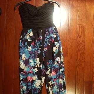 Mendocino Floral Strapless Jumpsuit