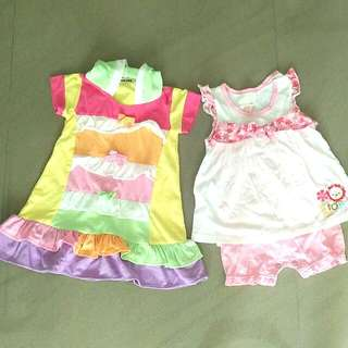 Fisher Price Top And Bottom Set, And Rainbow Dress