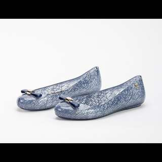 Melissa x Jason Wu Clear Blue Flats