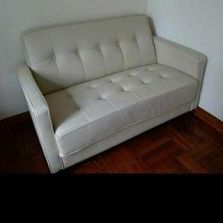 Ivory Color Sofa,  95% new , original price over 1K