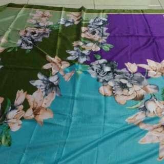 Paket 3 Pcs Jilbab Segiempat Satin Silk Printing Premium