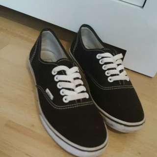 Black & White Thin Sole Vans
