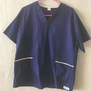 Scrub Suit Top Only 2x Size M-L