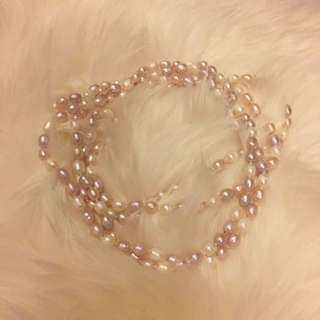 Freshwater Pink Pearl Necklace 60""