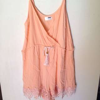 size 8 baby orange jumpsuit