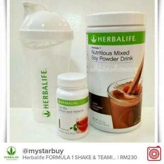 Herbalife FORMULA 1 + Teamix 50g FREE Shaker Cup & Spoon