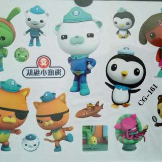 New Octonauts Children Temporary Tattoo