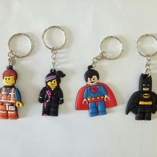 New Lego Movie Keychain Keyring Batman Superman Emmet Wyldstyle