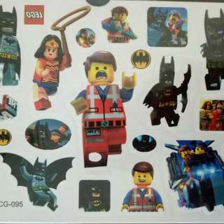New Lego Movie Temporary Tattoo