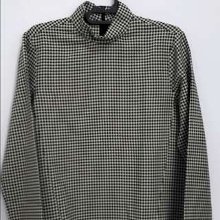 Zara Woman Houndstooth Top