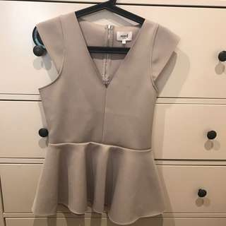SEED Ladies Peplum Top Size S