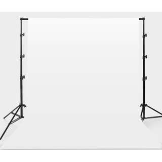 2.6 x 2m Backdrop Stand with White Background Cloth