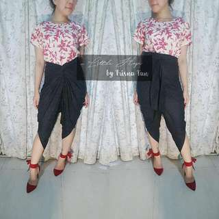 Ready Stock KIREI SET Batik Garutan (Atasan + Celana Ubet)