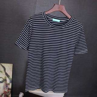 STRIPE TOP BLACK AND WHITE