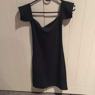 Black Across Shoulder Dress