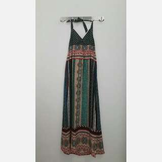 Promod Halterneck Maxi Dress