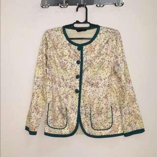 Shafira Blazer (floral on white)