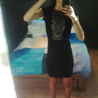 French Connection Black Dress Size 6