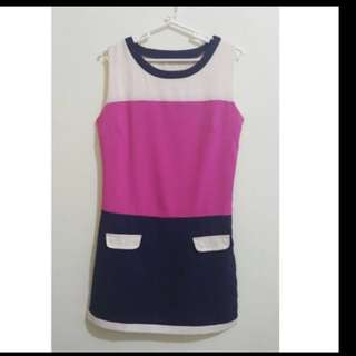 Colorblock Short Dress