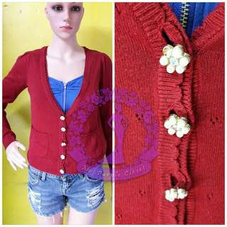 LOVELY Red CARDIGAN