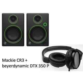 Mackie CR3 (Pair) + beyerdynamic DTX 350 P